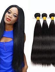 저렴한 -3 개 묶음 말레시아인 헤어 스트레이트 실키 미처리 인모 번들 헤어 인모 연장 위브 10-26 인치 자연 색상 인간의 머리 되죠 털실 천연 최고의 품질 인간의 머리카락 확장 여성용
