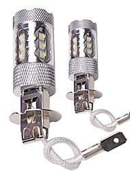 Недорогие -OTOLAMPARA 2pcs H7 / H4 / H3 Автомобиль Лампы 80 W Высокомощный LED 2200 lm 16 Светодиодная лампа Противотуманные фары Назначение Volvo / Volkswagen S40 / C30 / Jetta Все года
