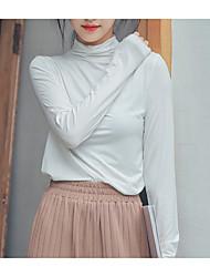 olcso -női ázsiai méretű vékony póló - tömör színű giccs
