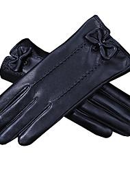 Недорогие -Полныйпалец Жен. Мотоцикл перчатки Кожа Сенсорный экран / Сохраняет тепло