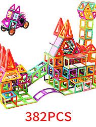 Недорогие -Магнитный конструктор Магнитные плитки 382 pcs Геометрический узор Все Мальчики Девочки Игрушки Подарок