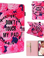 Недорогие -Кейс для Назначение Apple iPad Pro 11'' / iPad 4/3/2 Кошелек / Бумажник для карт / Защита от удара Чехол Цветы Твердый Кожа PU для iPad Air / iPad 4/3/2 / iPad (2018)