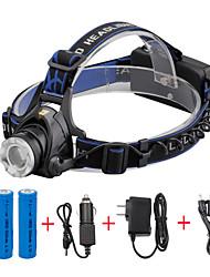 abordables -U'King Lampes Frontales Phare Avant de Moto LED LED 1 Émetteurs 2000 lm 3 Mode d'Eclairage avec Piles et Chargeurs Fonction Zoom, Faisceau Ajustable, Taille Compacte Camping / Randonnée