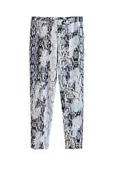 Недорогие -узкие женские брюки чинос - геометрические / однотонные белые