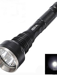 Недорогие -Светодиодные фонари Светодиодная лампа LED 3 излучатели 3000 lm 5 Режим освещения Водонепроницаемый Ударопрочный Нескользящий захват
