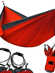 Недорогие -Туристический гамак На открытом воздухе Легкость, Быстровысыхающий, Воздухопроницаемость Нейлон для 2 человека Рыбалка / Походы - Красный, Темно-синий, Военно-зеленный