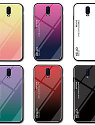 رخيصةأون -غطاء من أجل OnePlus OnePlus 6 / One Plus 6T مرآة غطاء خلفي لون متغاير قاسي زجاج مقوى إلى OnePlus 6 / One Plus 6T / One Plus 5