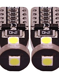 Недорогие -2pcs T10 Мотоцикл / Автомобиль Лампы 1 W SMD 3030 100 lm 3 Светодиодная лампа Лампа поворотного сигнала / Внутреннее освещение / Боковые габаритные огни Назначение Универсальный Все года