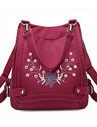 hesapli -Kadın's Çantalar Naylon sırt çantası Fermuar için Günlük Bahar Siyah / YAKUT