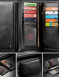 Недорогие -CaseMe Кейс для Назначение Blackberry / Apple / SSamsung Galaxy Универсальный Кошелек / Бумажник для карт Чехол Однотонный Твердый Кожа PU для iPhone XS Max / S9 Plus / Note 9