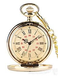 Недорогие -Муж. Карманные часы Часы-подвеска Кварцевый Классический Стали Золотистый Повседневные часы Аналоговый На каждый день Aristo - Золотистый