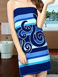 Недорогие -Высшее качество Банное полотенце, Геометрический принт Чистый хлопок Ванная комната 1 pcs
