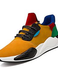 Недорогие -Муж. Комфортная обувь Полиуретан Весна На каждый день Спортивная обувь Для прогулок Дышащий Белый / Черный / Желтый