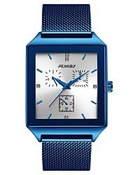 Недорогие -Муж. Наручные часы Японский Японский кварц Нержавеющая сталь Черный / Серебристый металл 30 m Повседневные часы Аналоговый Мода минималист - Черный Синий Два года Срок службы батареи