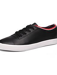 hesapli -Kadın's Ayakkabı Suni Deri Sonbahar Çıtı Pıtı Oxford Modeli Düz Taban Yuvarlak Uçlu Günlük / Dış mekan için Siyah