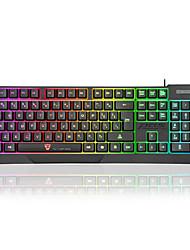 Недорогие -motospeed K70 USB Проводной Игровые клавиатуры Мультимедийная клавиатура Светящийся Регулируемая высота Мульти цвет подсветки 104 pcs Ключи