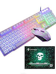 Недорогие -LITBest T6 USB Проводной Мышь Клавиатура Комбо Портативные Игровые клавиатуры Светящийся Gaming Mouse / Управление мышью / Эргономичная мышь 1600 dpi Игры