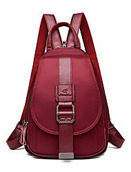 Недорогие -Жен. Мешки PU рюкзак Молнии Черный / Красный