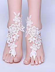 ราคาถูก -ลูกไม้ อาริสโตคราท โลลิต้า / สายคล้องข้อเท้า Wedding Garter กับ ลูกไม้ แหวนนิ้วเท้า งานแต่งงาน / ปาร์ตี้