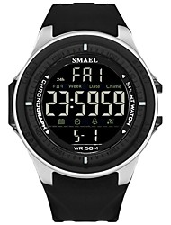 Недорогие -Муж. Спортивные часы электронные часы Цифровой Стеганная ПУ кожа Черный / Синий / Красный Защита от влаги Фосфоресцирующий Цифровой На каждый день Мода - Зеленый Синий Хаки