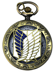 baratos -Relógio Inspirado por Attack on Titan Eren Jager / Mikasa Ackermann Anime Acessórios para Cosplay Relógio Liga Trajes da Noite das Bruxas