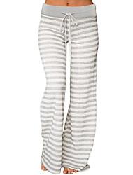 Недорогие -женские брюки чинос - полосатый серый