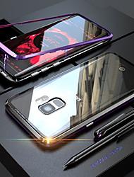 Недорогие -Кейс для Назначение SSamsung Galaxy S9 Plus / S9 Прозрачный / Магнитный Чехол Однотонный Твердый Закаленное стекло для S9 / S9 Plus / S8 Plus