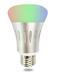 Недорогие -1шт 7 W 600 lm E26 / E27 Умная LED лампа 10 Светодиодные бусины На пульте управления / Cool RGBW 110-220 V