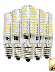 hesapli -5pcs 4 W 300-400 lm E12 LED Mısır Işıklar T 80 LED Boncuklar SMD 4014 Çok güzel Sıcak Beyaz / Serin Beyaz 110-130 V