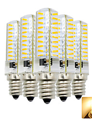 abordables -5pcs 4 W 300-400 lm E12 Ampoules Maïs LED T 80 Perles LED SMD 4014 Adorable Blanc Chaud / Blanc Froid 110-130 V