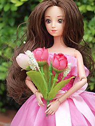 baratos -Boneca de moda Bebês Meninas 12 polegada Silicone - Smart realista Crianças / Adolescente de Criança Unisexo Brinquedos Dom