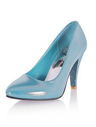 hesapli -Kadın's Ayakkabı PU İlkbahar & Kış Vintage / Minimalizm Topuklular Stiletto Topuk Sivri Uçlu Günlük / Ofis ve Kariyer için Bej / Mavi / Pembe