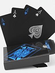 Недорогие -ПВХ покер водонепроницаемый пластиковый игральные карты набор черный набор карт классические магические трюки инструмент игры в покер