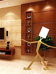 Недорогие -ywxlight® современный современный декоративный деревянный торшер белый оттенок ткани регулируемый для гостиной спальни украшения дома 43.3 дюймов уникальный дизайн