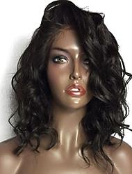 Χαμηλού Κόστους -Remy Τρίχα Δαντέλα Μπροστά Περούκα Βραζιλιάνικη Κυματομορφή Σώματος Περούκα Ασύμμετρο κούρεμα 130% Πυκνότητα μαλλιών με τα μαλλιά μωρών Μοδάτο Σχέδιο Γυναικεία Άνετο 100% παρθένα Φυσικό Γυναικεία