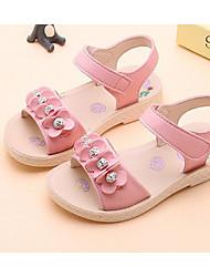 tanie -Dla dziewczynek Obuwie Sztuczna skóra Lato Wygoda Sandały na Dzieci / Brzdąc Biały / Różowy