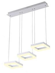 abordables -3 lumières Grappe Lampe suspendue Lumière d'ambiance Finitions Peintes Métal Acrylique Style mini, LED 110-120V / 220-240V Blanc Crème / Blanc
