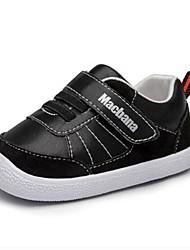 baratos -Para Meninos / Para Meninas Sapatos Couro Sintético Outono & inverno Conforto Tênis Velcro para Bébé Branco / Preto / Rosa claro