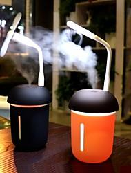 abordables -200ml purificateur d'air de voiture multifonctionnel 3 en 1 usb charge compteur d'eau ventilateur 7 couleur led veilleuse champignon humidier
