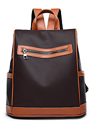 hesapli -Kadın's Çantalar Oxford sırt çantası Fermuar için Günlük / Okul Bahar Siyah / Kahve
