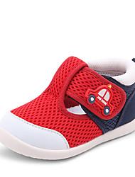 Недорогие -Девочки Обувь Полиуретан Лето Обувь для малышей Кеды На липучках для Дети Темно-синий / Черный / Красный / Светло-Розовый / Контрастных цветов