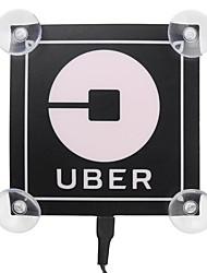 Недорогие -5 В убер светодиодные лампы обслуживания автомобиля знак логотипа наклейка USB мигающий украшения огни синий