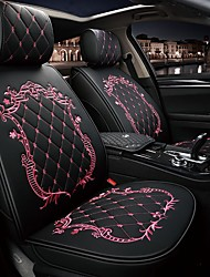 cheap -ODEER Car Seat Cushions Seat Cushions Black / Pink / Black Gold / Black / White PU Leather Common For universal All years All Models