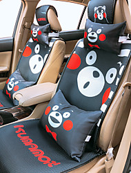 cheap -Car Seat Covers Headrest & Waist Cushion Kits Black / Black / Red / Pink Sandwich fabric Cartoon For universal All years All Models
