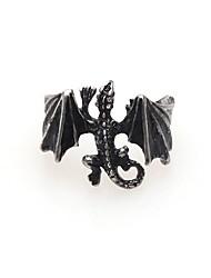 hesapli -Erkek Geometrik Bildiri Yüzüğü - Ejderha İfade, Çin Stili Mücevher Altın / Siyah / Gümüş Uyumluluk Hediye Günlük Karnaval Ayarlanabilir