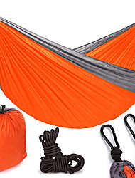 お買い得  -キャンプ用ハンモック アウトドア ライトウェイト, 速乾性, 通気性 ナイロン のために 釣り / キャンピング - 2人 ブルー / グリーン / オレンジ