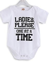 お買い得  -赤ちゃん 女の子 ストリートファッション 日常 プリント 半袖 ポリエステル ワンピース ホワイト