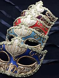 Недорогие -Маски / Венецианская маска / Половинная маска Взрослые Вечеринка / Винтаж Жен. Лазурный / Красный / Синий Пластик Для вечеринок Косплэй аксессуары Хэллоуин / Карнавал / Маскарад костюмы / Мужской