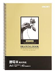Недорогие -1 пак deli 7696-C Sketchbook 40 простыни A4