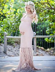 Χαμηλού Κόστους -γυναικείος καθημερινά maxi λεπτό bodycon φόρεμα v λαιμό ροζ s m l xl